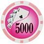 Yin Yang - $5000 Pink Clay Poker Chips