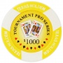 Tournament Pro - $1000 Yellow Clay Poker Chips