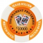 Tournament Pro - $10000 Orange Clay Poker Chips