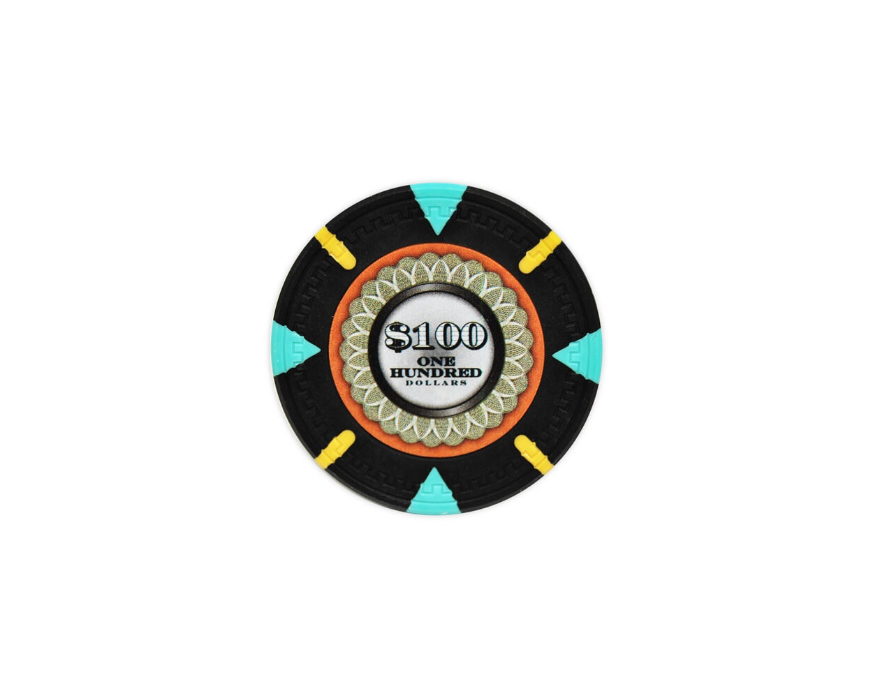 The Mint - $100 Black Clay Poker Chips