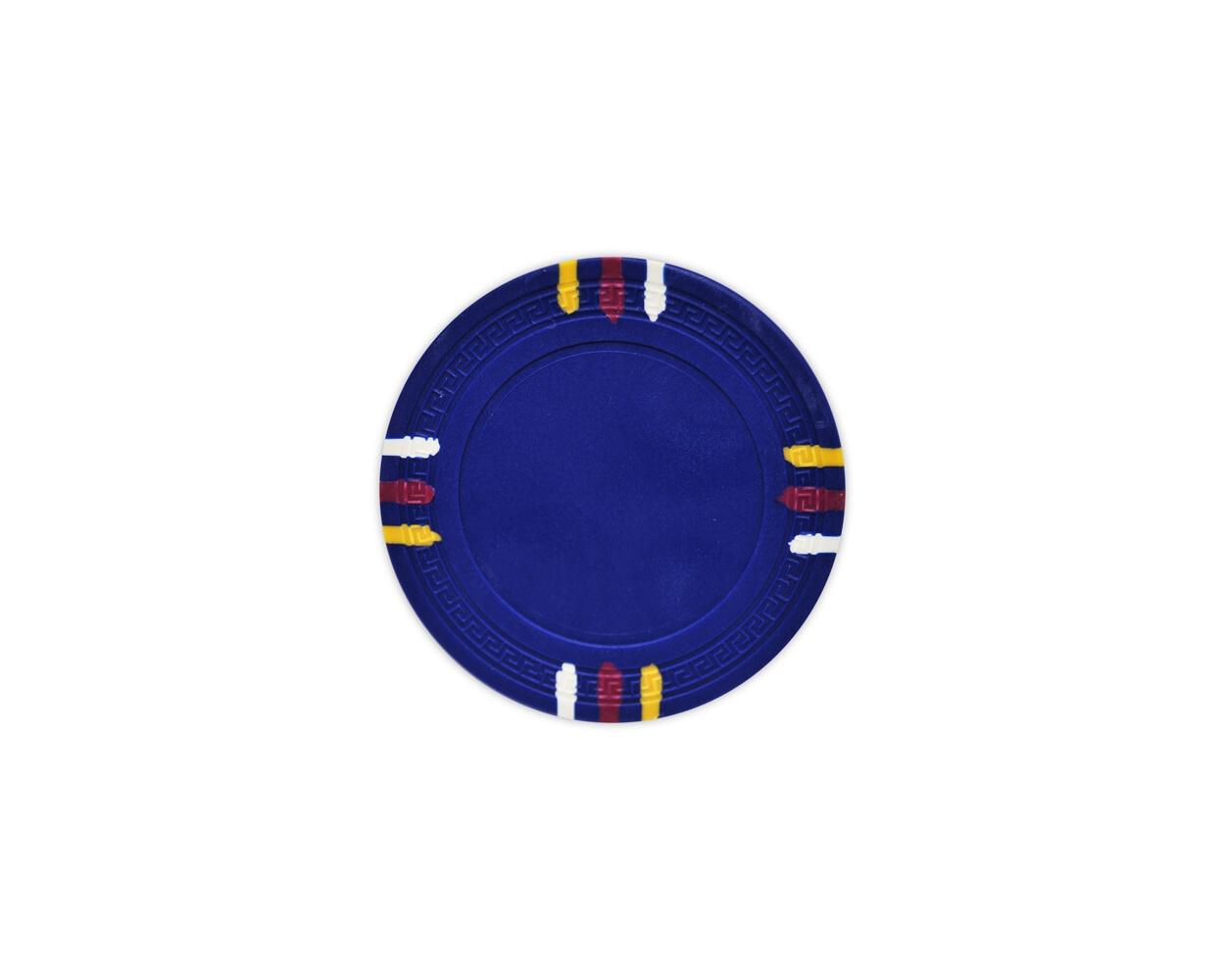 12 Stripe - Blue Clay Poker Chips