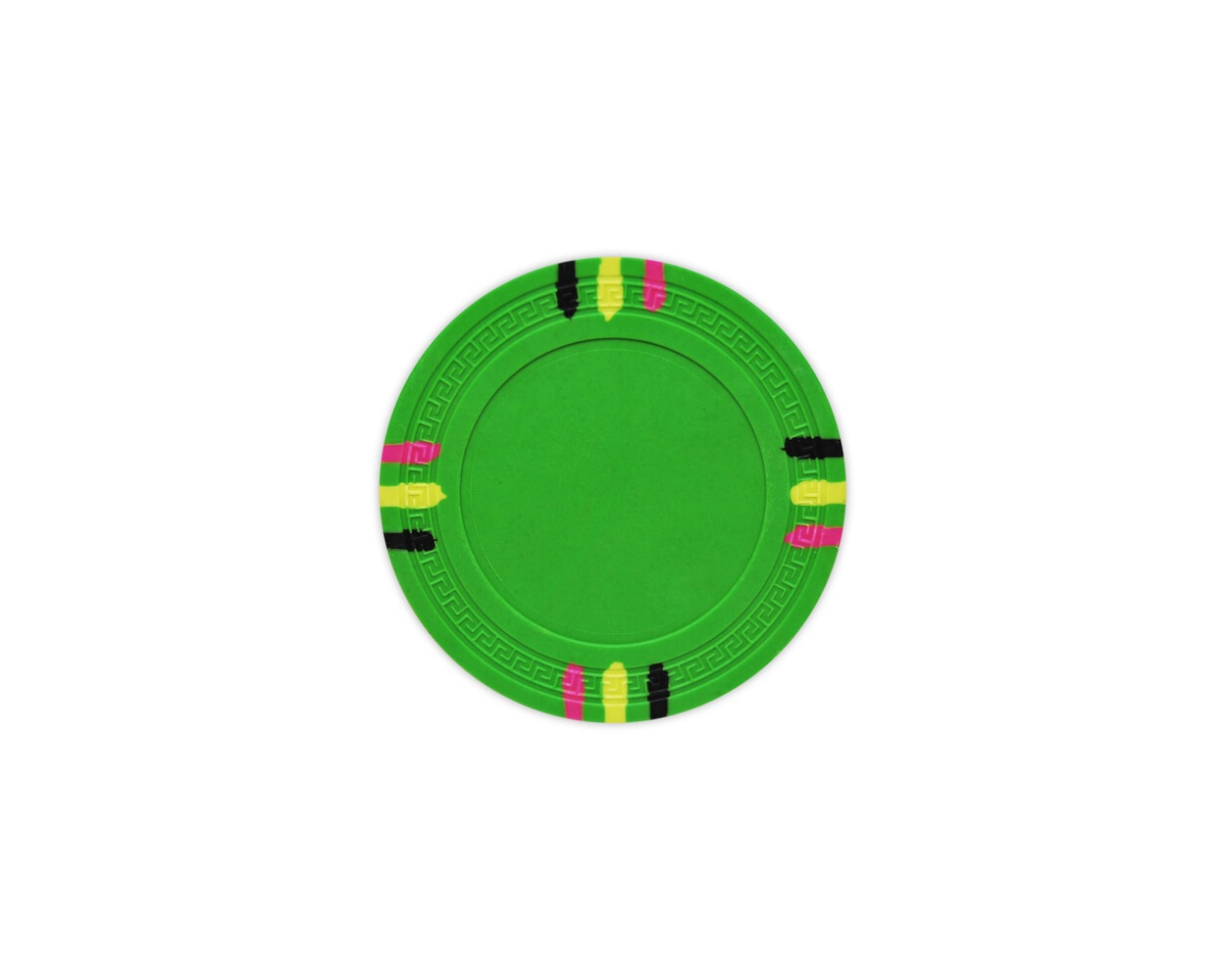 12 Stripe - Green Clay Poker Chips