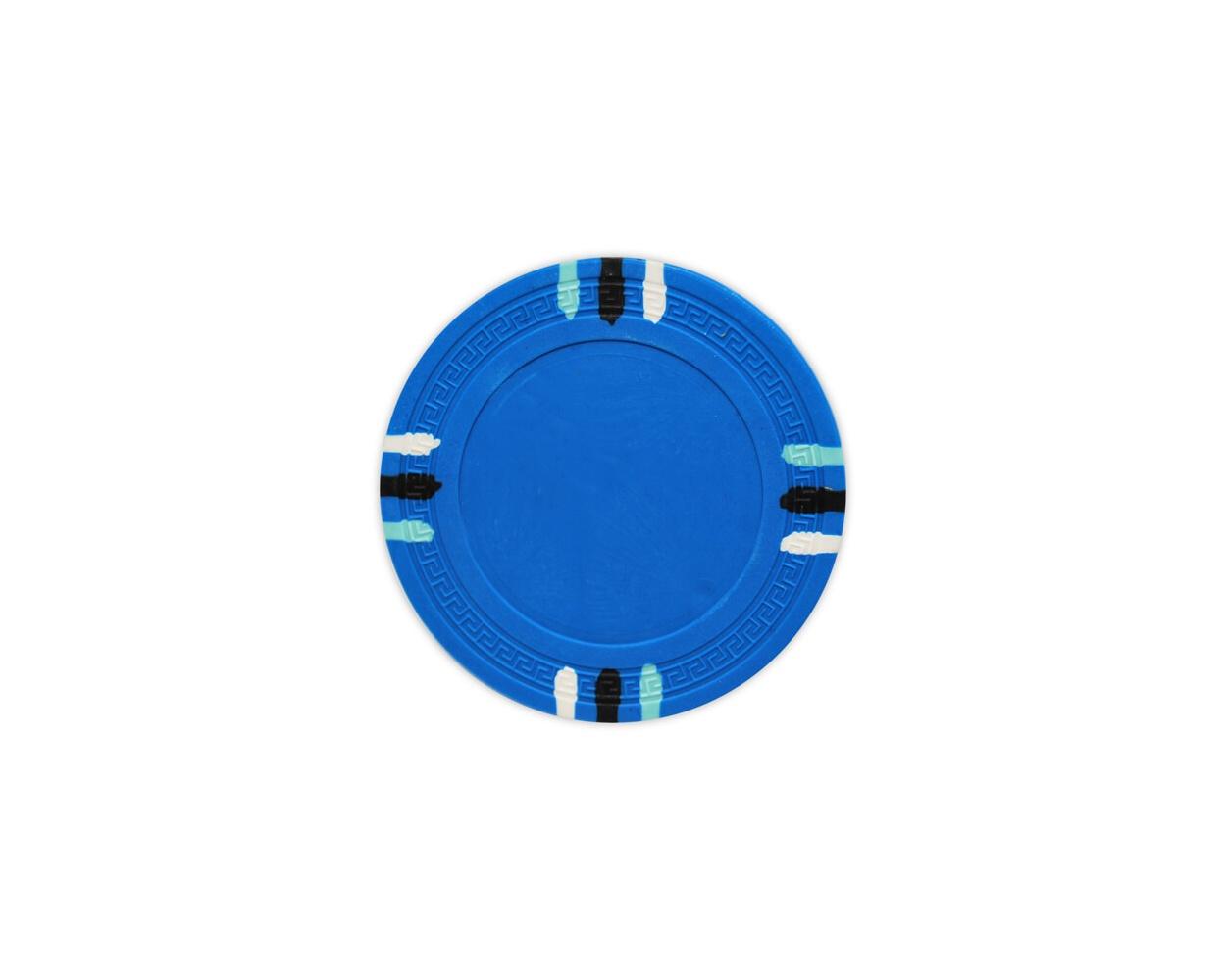 12 Stripe - L. Blue Clay Poker Chips