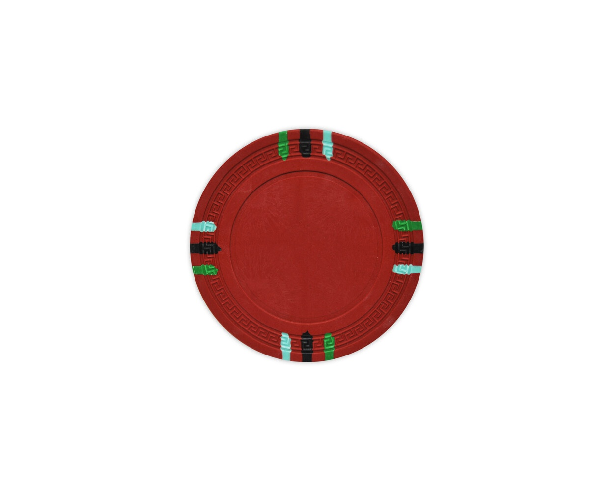12 Stripe - Red Clay Poker Chips