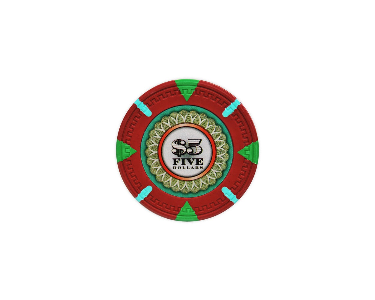 The Mint - $5 Red Clay Poker Chips