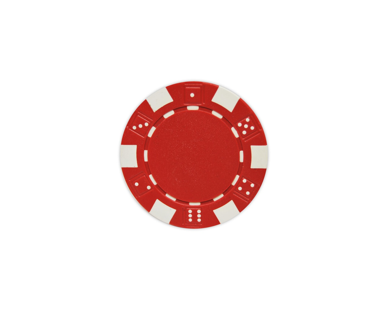 Striped Dice - Red Clay Poker Chips