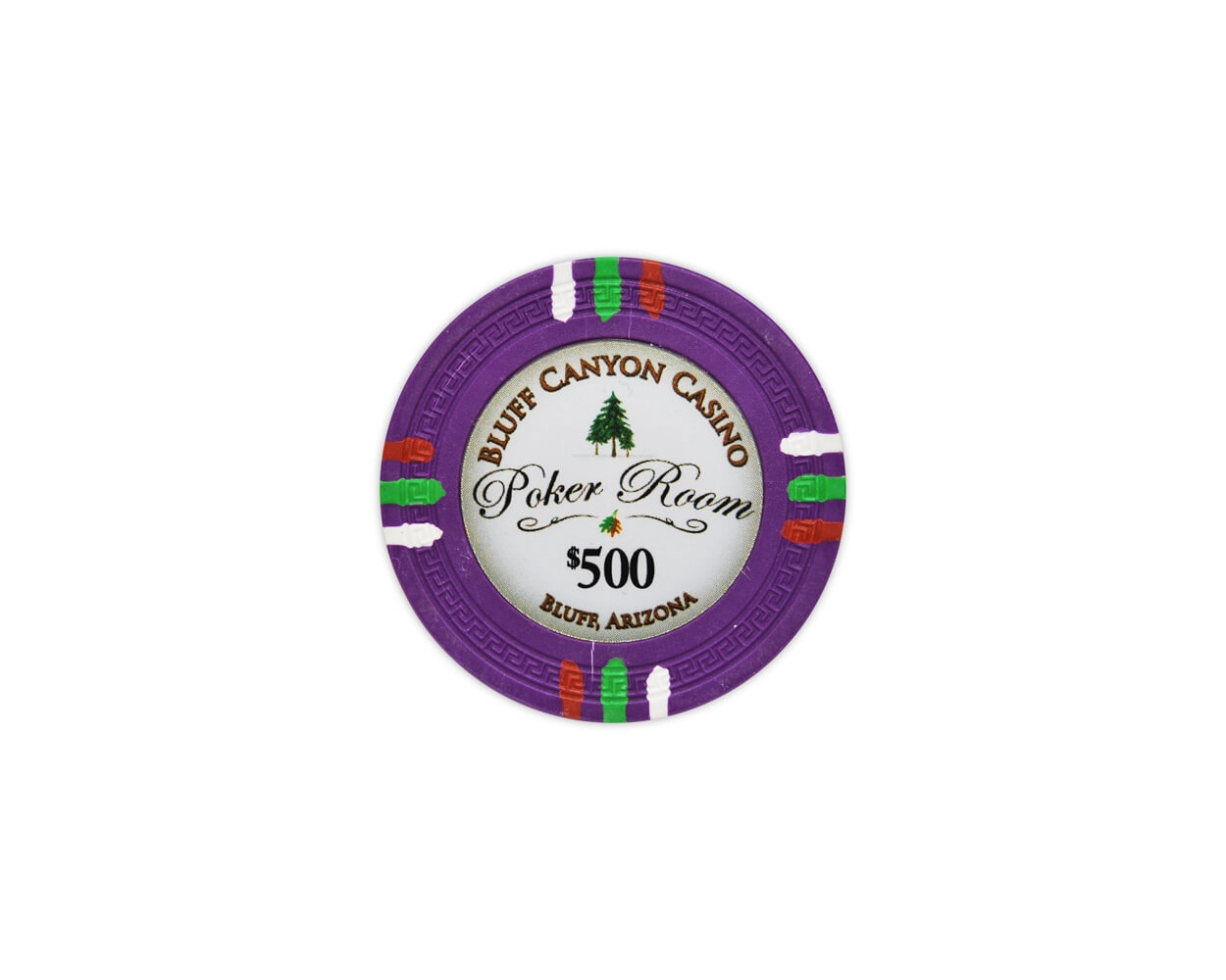 Bluff Canyon - $500 Purple Clay Poker Chips