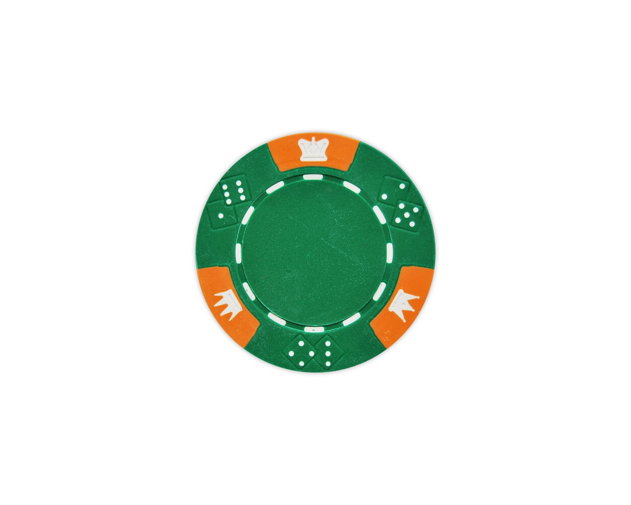 Crown & Dice - Green Clay Poker Chips