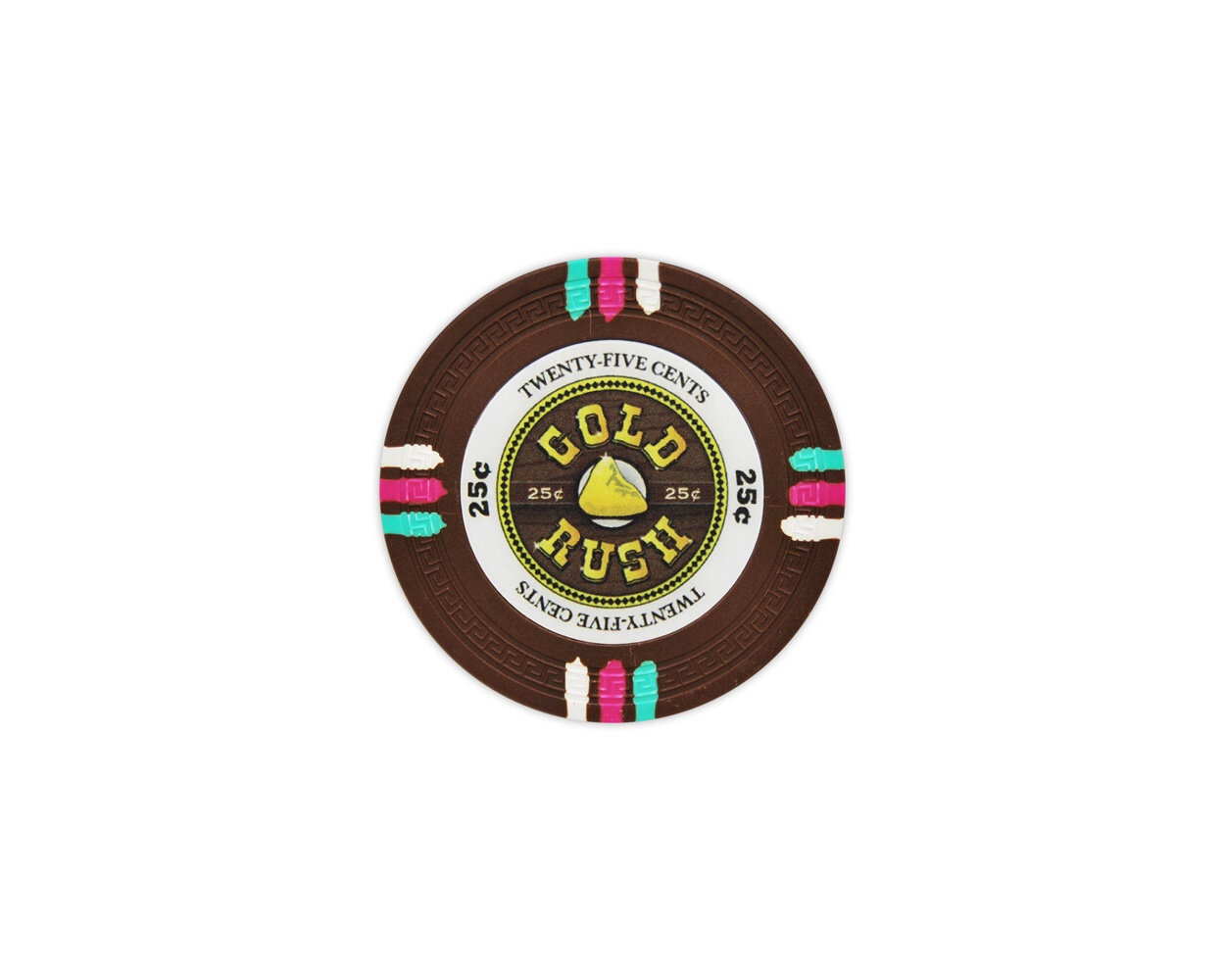 Gold Rush - 25¢ Brown Clay Poker Chips