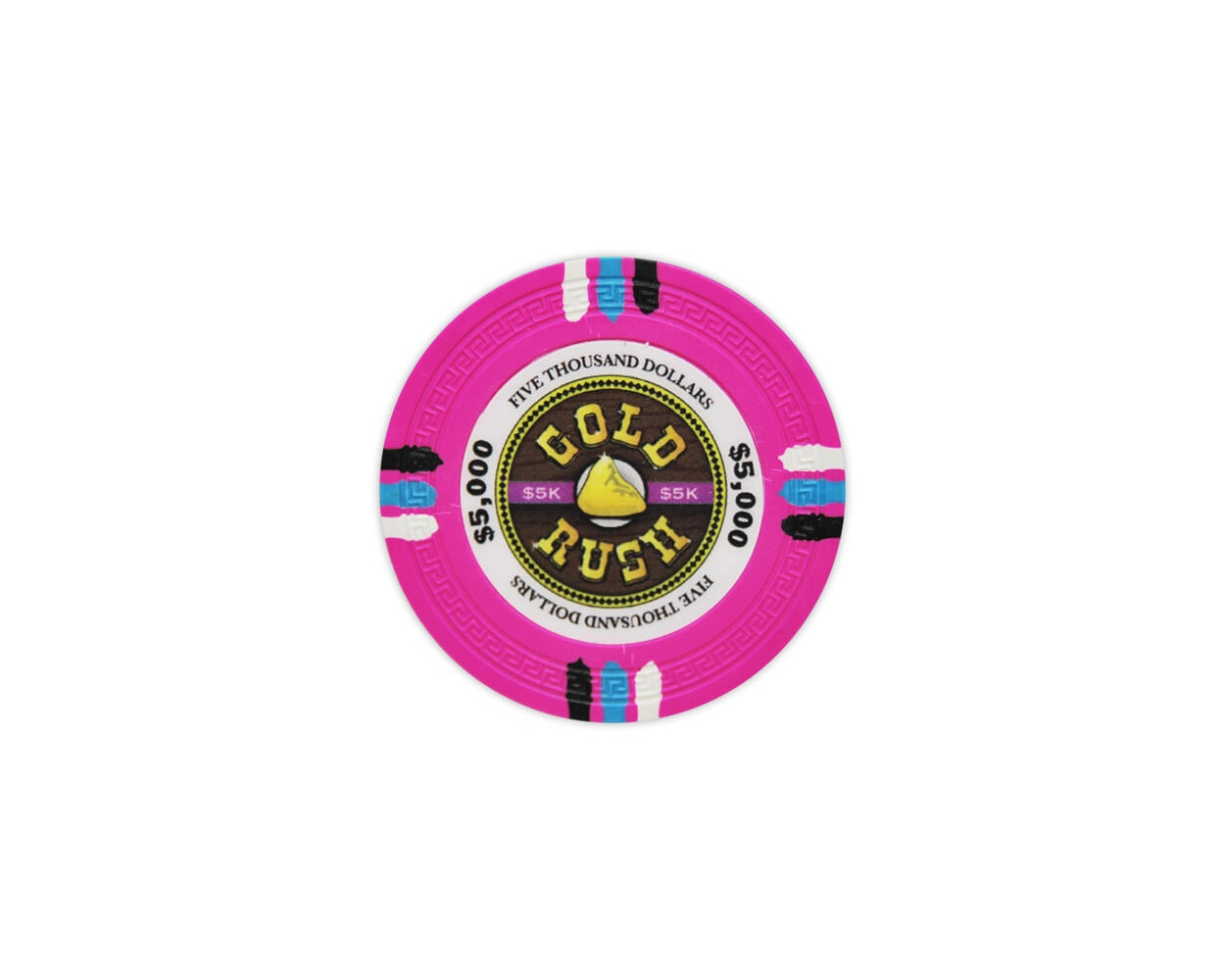 Gold Rush - $5000 Pink Clay Poker Chips