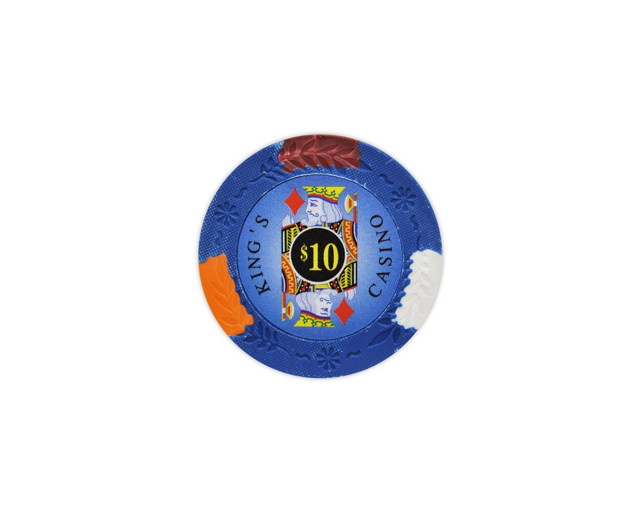 King's Casino - $10 Blue Clay Poker Chips
