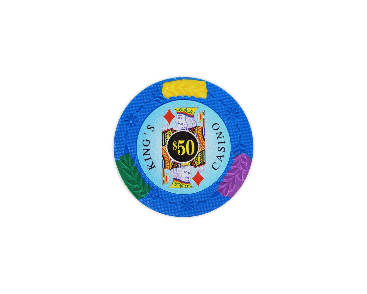 King's Casino - $50 L. Blue Clay Poker Chips