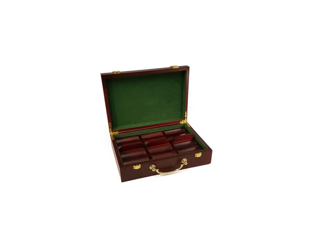 300ct Mahogany Poker Chip Case