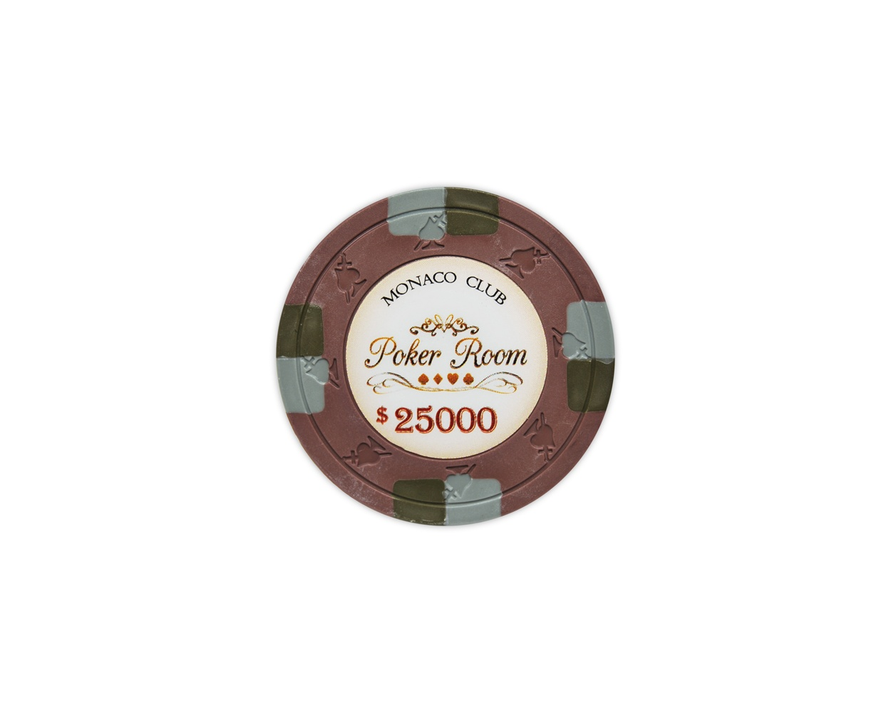 Monaco Club - $25000 Brown Clay Poker Chips