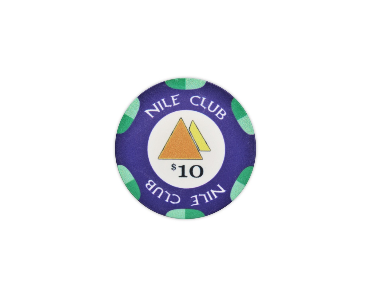 Nile Club - $10 D. Blue Ceramic Poker Chips