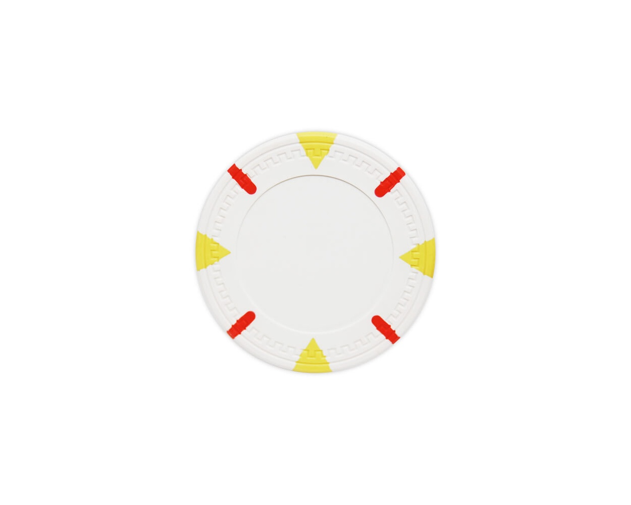 Triangle & Stick - White Clay Poker Chips