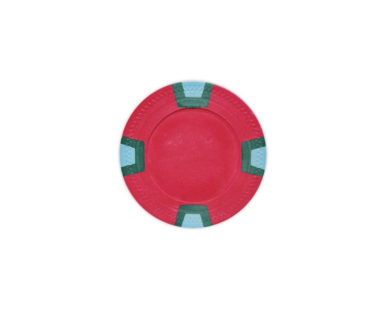 Double Trapezoid - Red Clay Poker Chips
