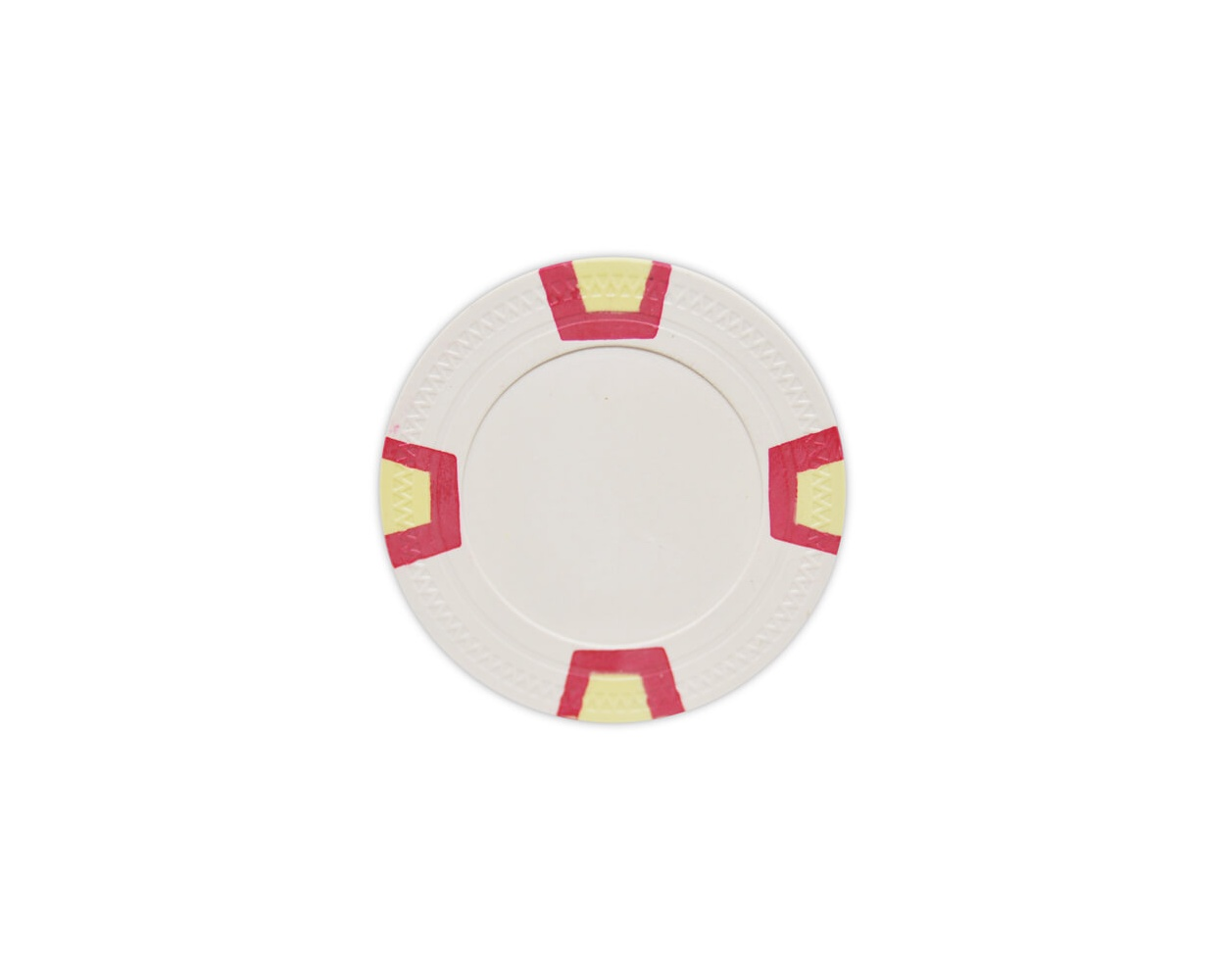 Double Trapezoid - White Clay Poker Chips