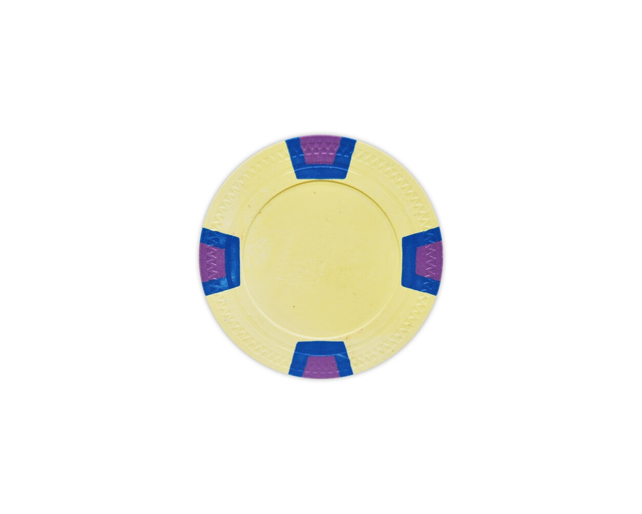 Double Trapezoid - Yellow Clay Poker Chips
