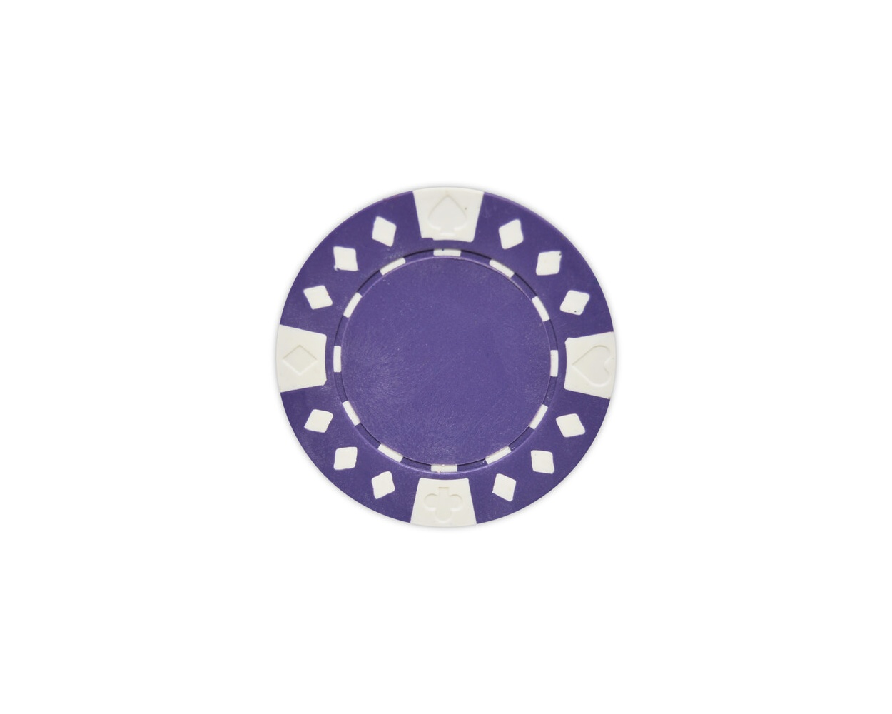 Diamond Suited - Purple Clay Poker Chips