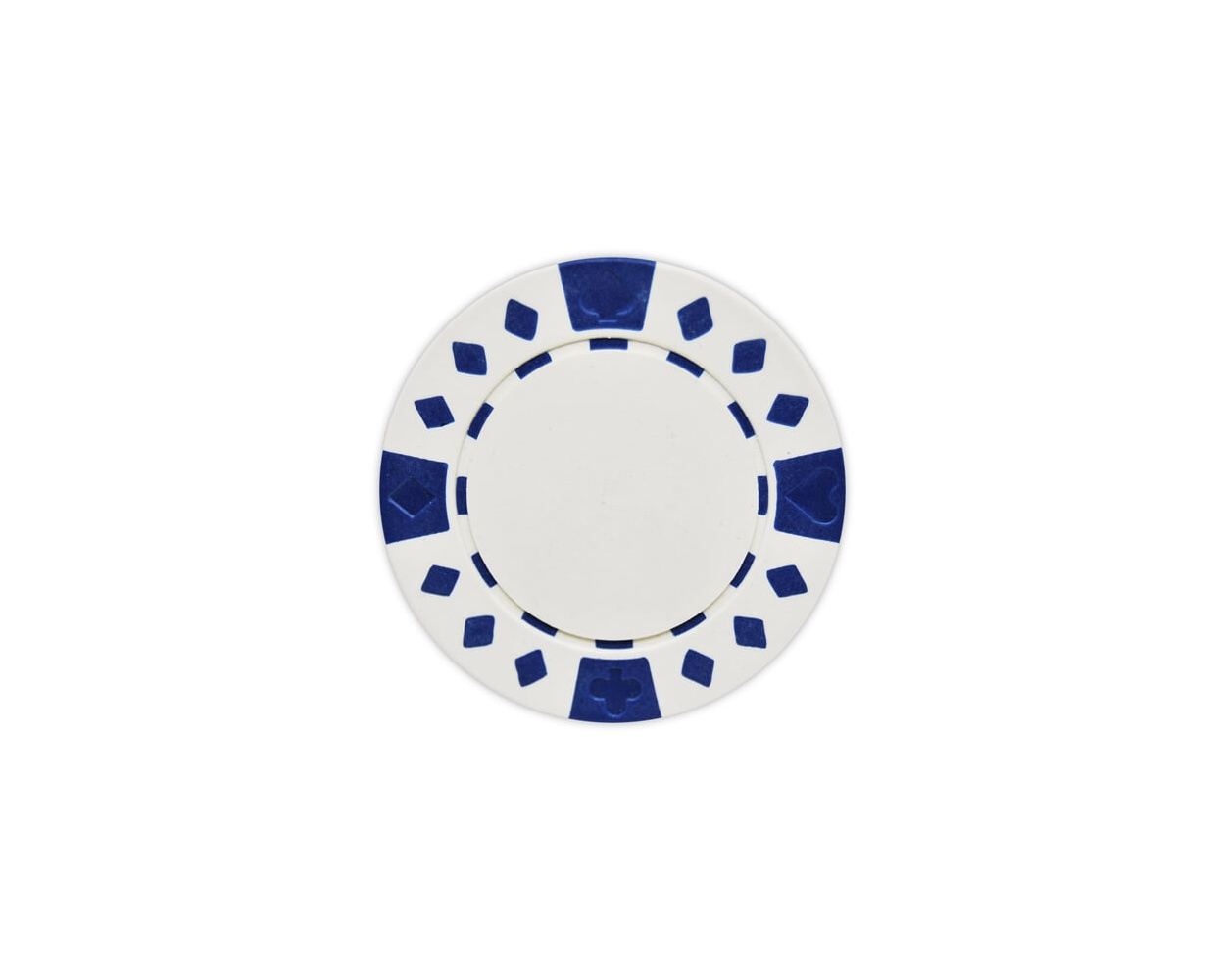Diamond Suited - White Clay Poker Chips