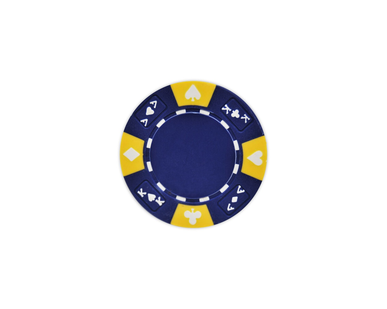 Ace King Suited - Blue Clay Poker Chips