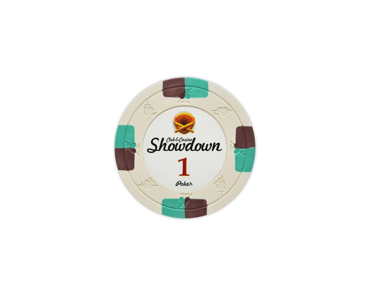 Showdown - $1 Ivory Clay Poker Chips