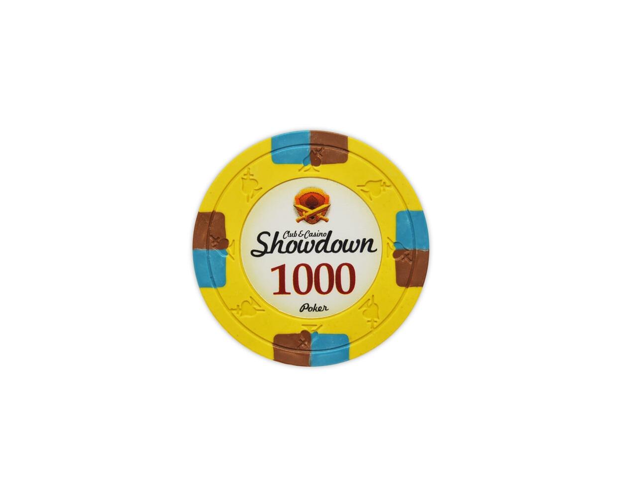 Showdown - $1000 Yellow Clay Poker Chips