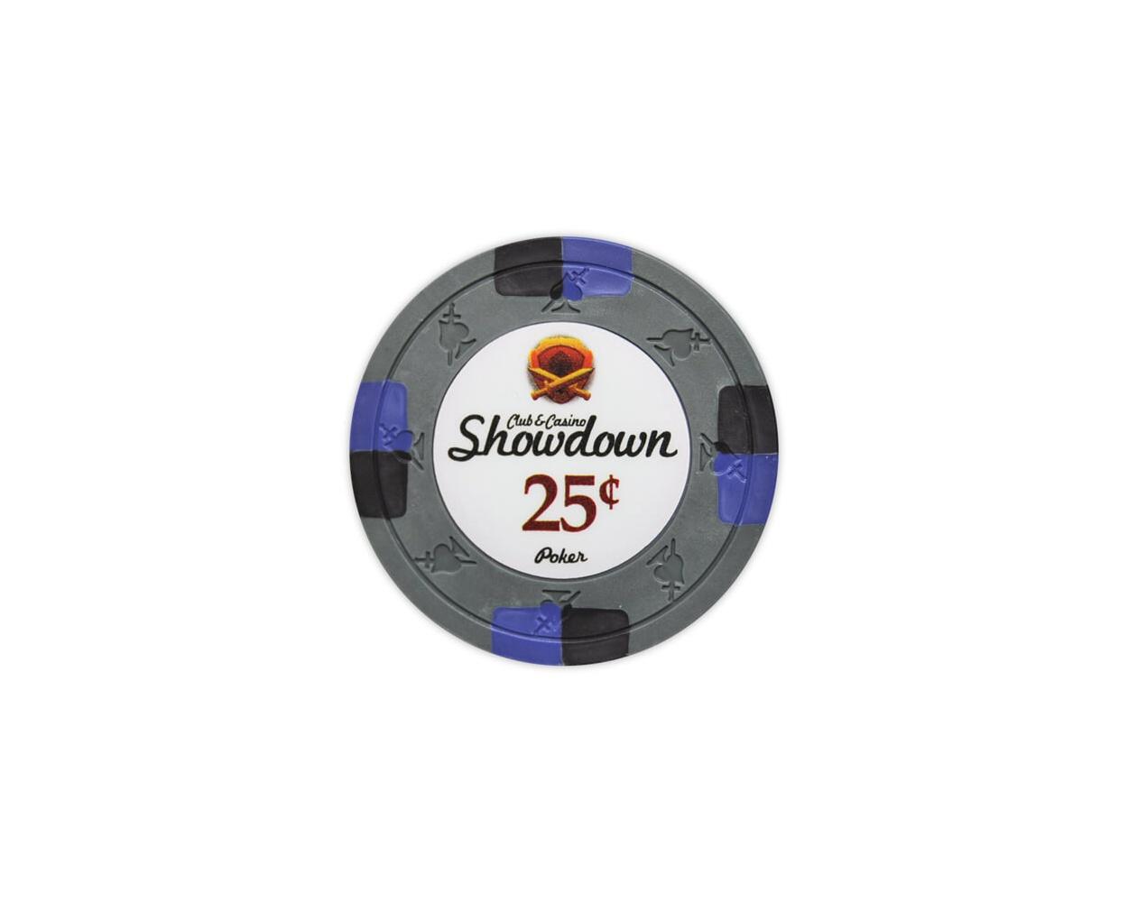 Showdown - 25¢ Gray Clay Poker Chips
