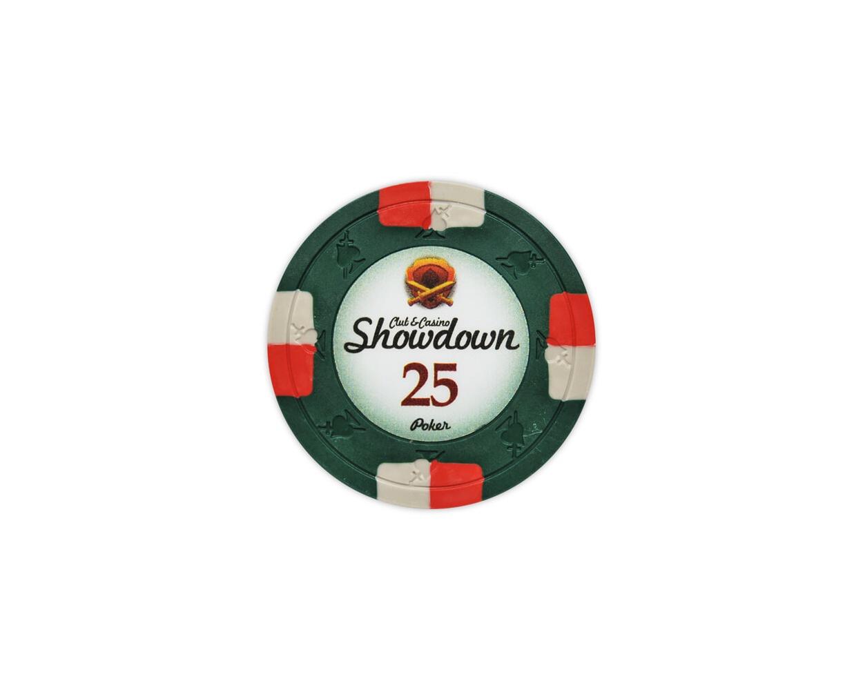 Showdown - $25 Green Clay Poker Chips