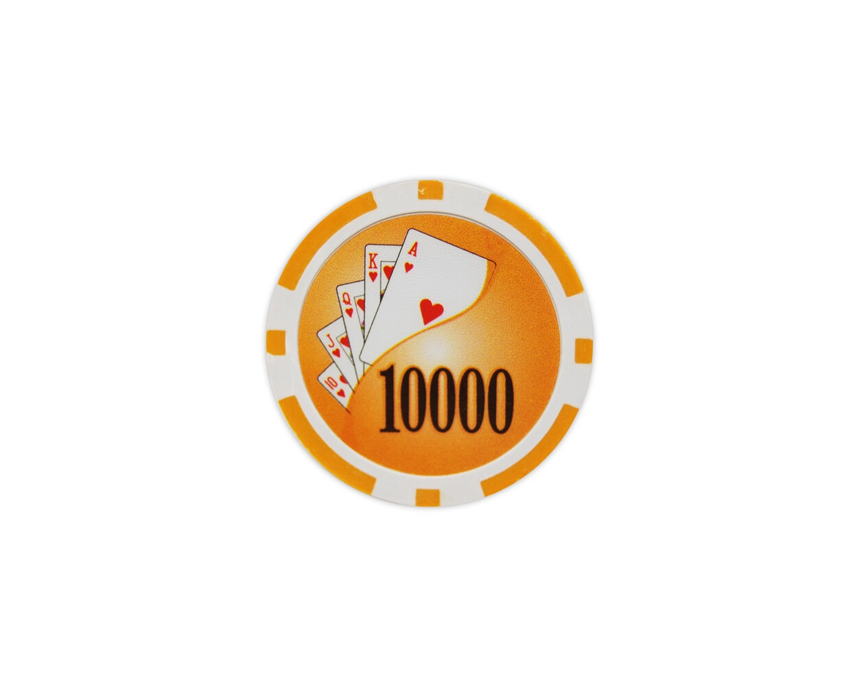Yin Yang - $10000 Orange Clay Poker Chips