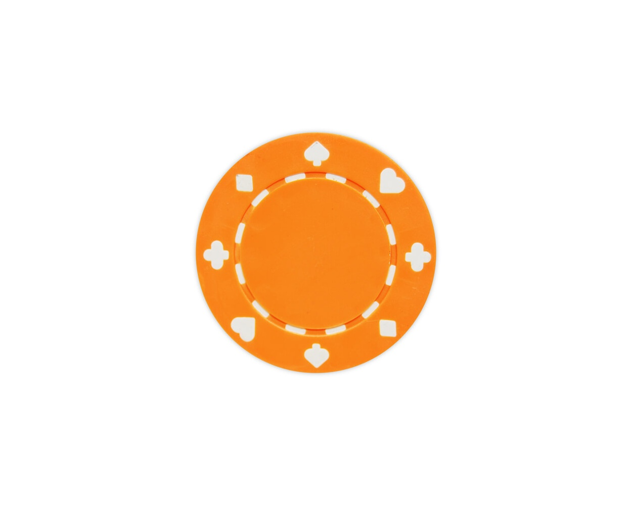 Suited - Orange Clay Poker Chips
