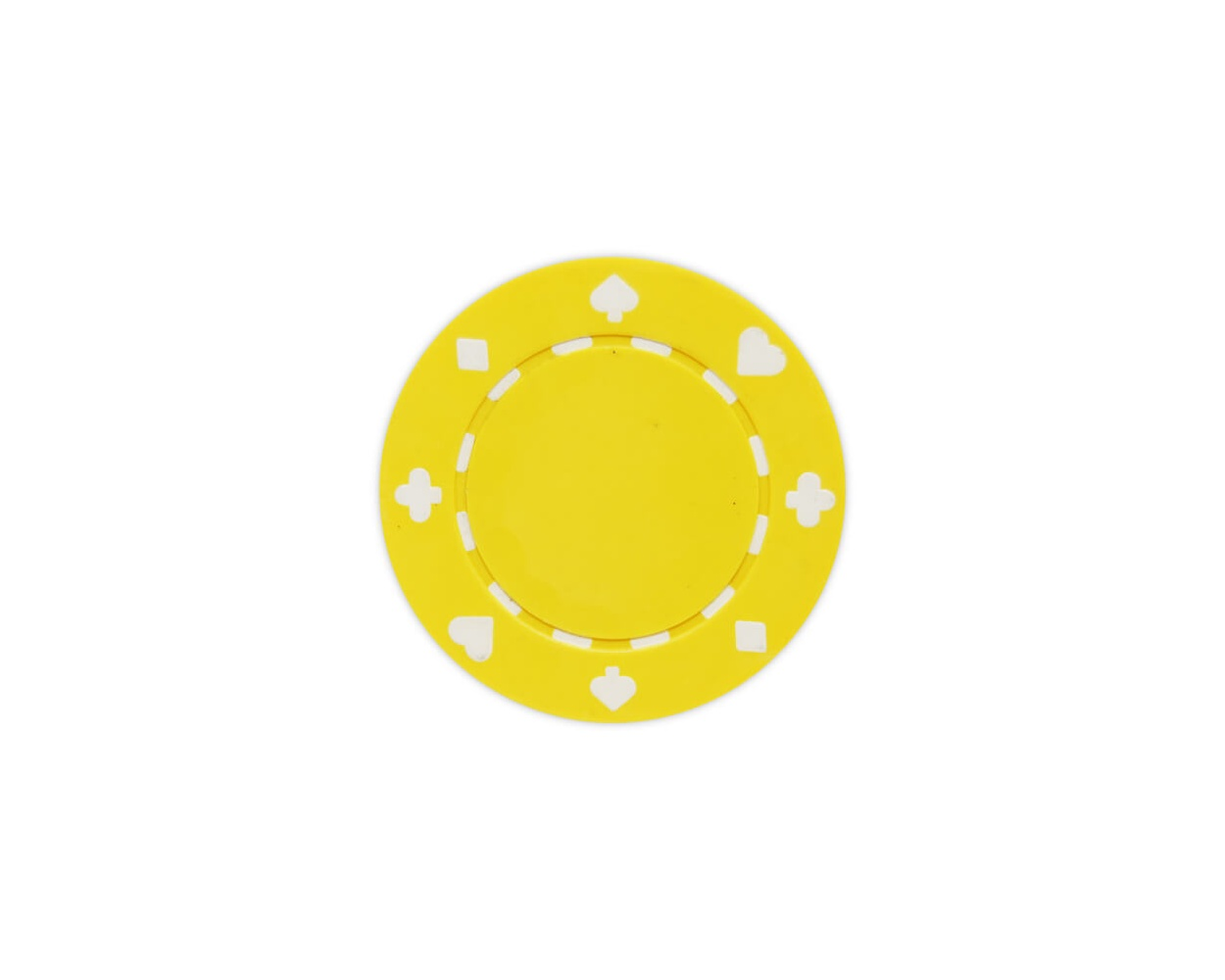 Suited - Yellow Clay Poker Chips