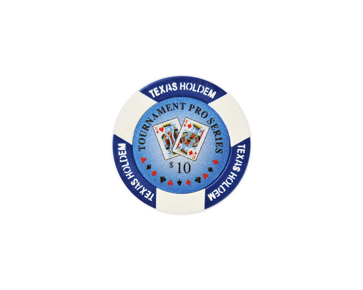 Tournament Pro - $10 Blue Clay Poker Chips