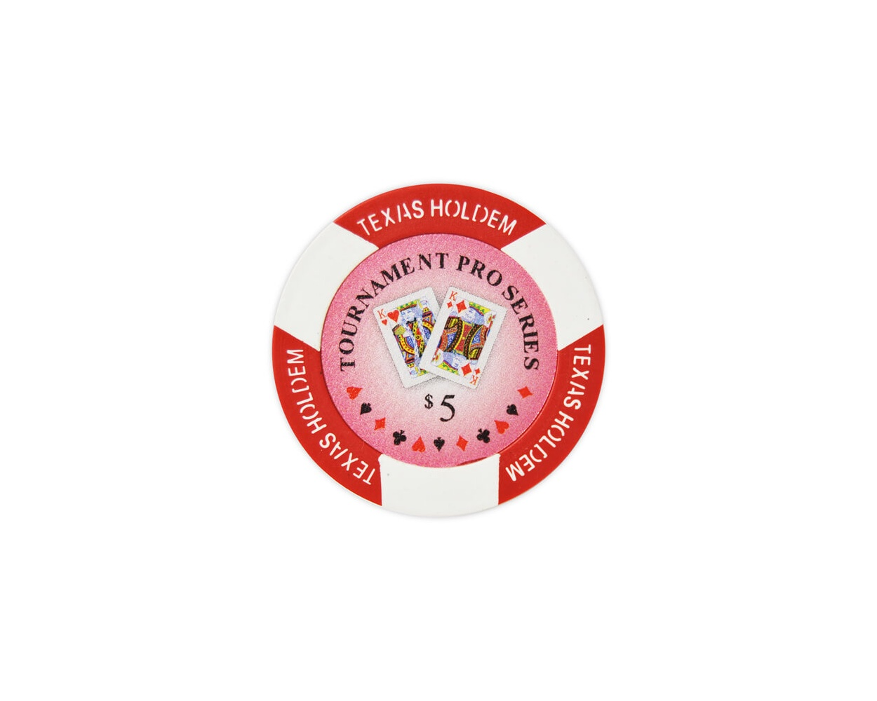 Tournament Pro - $5 Red Clay Poker Chips