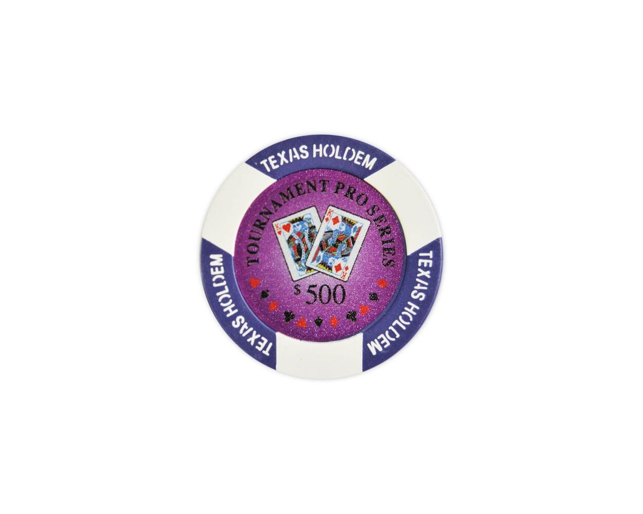 Tournament Pro - $500 Purple Clay Poker Chips