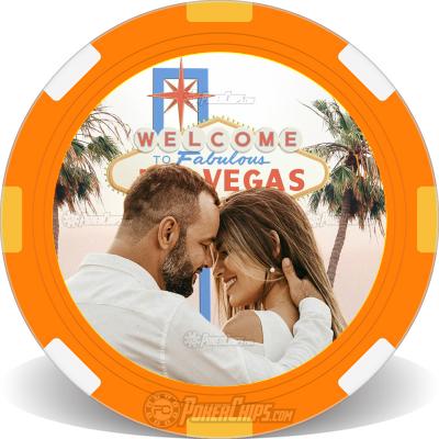 Wedding Couple Poker Chip