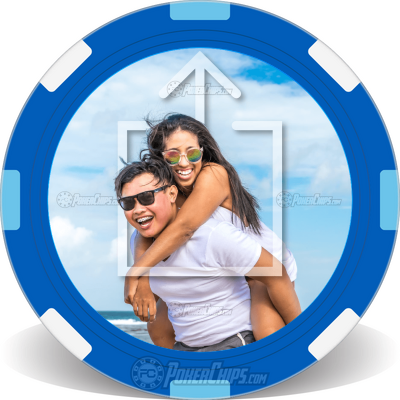 Your Photo Here Personalized Poker Chips