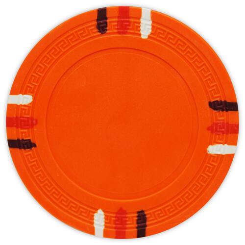 12 Stripe - Orange Clay Poker Chips