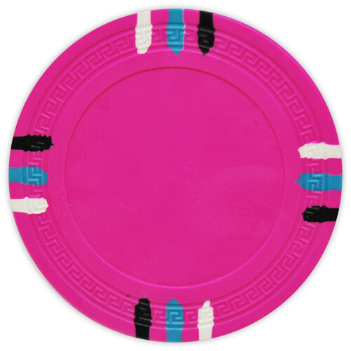 12 Stripe - Pink Clay Poker Chips