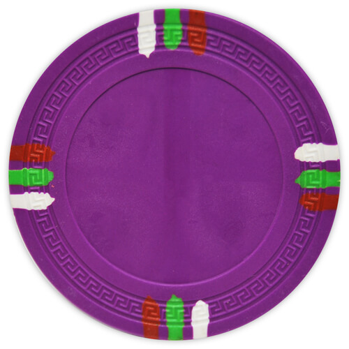 12 Stripe - Purple Clay Poker Chips