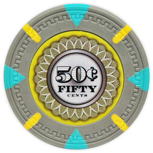 The Mint - 50¢ Gray Clay Poker Chips