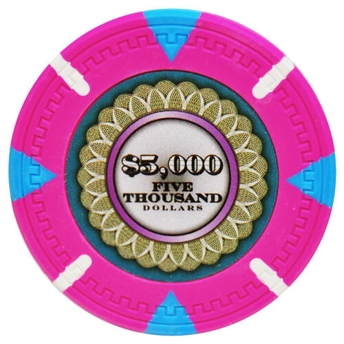 The Mint - $5000 Pink Clay Poker Chips