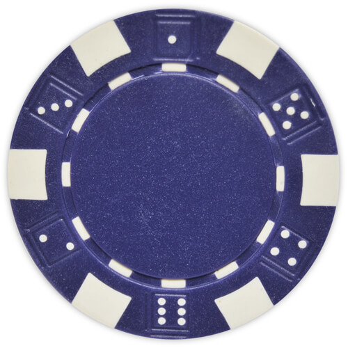 Striped Dice - Blue Clay Poker Chips