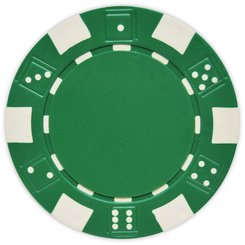 Striped Dice - Green Clay Poker Chips