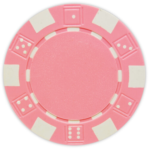 Striped Dice - Pink Clay Poker Chips