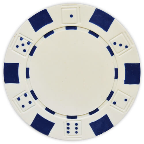 Striped Dice - White Clay Poker Chips