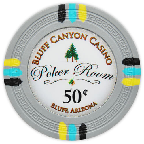 Bluff Canyon - 50¢ Gray Clay Poker Chips