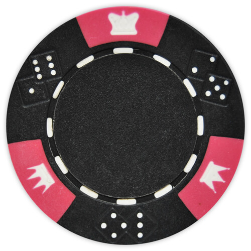 Crown & Dice - Black Clay Poker Chips