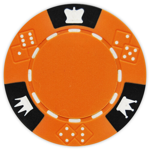 Crown & Dice - Orange Clay Poker Chips